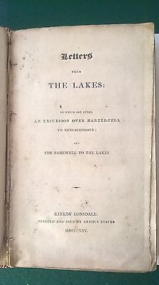 LETTERS FROM THE LAKES  John Briggs 1825 Westmorland Lake District Cumbria Rare