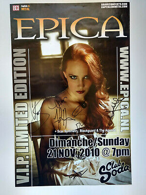 Epica VIP Limited Edition Signed Poster 2010 new original autographs Rare