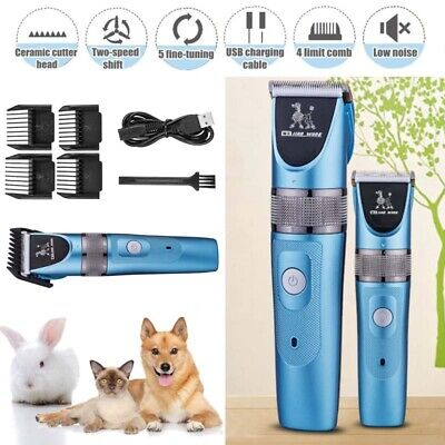 Cordless Electric Pet Grooming Clipper Dog Cat Hair Shaver Grooming Trimmer Kit