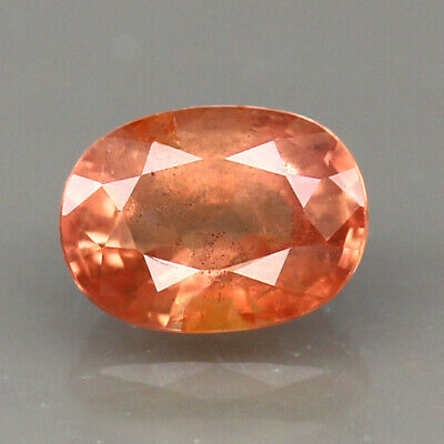 UNHEATED GEM 1.21ct.TANGA ORANGE SAPPHIRE OVAL SHAPE NATURAL GEMSTONE