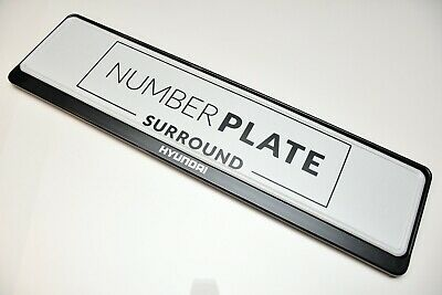 1 x PRESTIGE BLACK STAINLESS STEEL NUMBER PLATE SURROUND HOLDER * FOR HYUNDAI