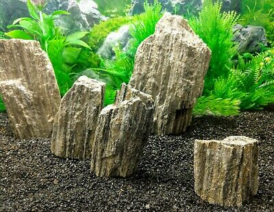 Natural Glimmer Wood Stone Aquarium Aquascaping Iwagumi Fish Tank Rock