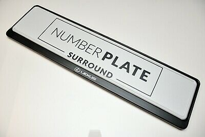 1 x PRESTIGE BLACK STAINLESS STEEL NUMBER PLATE SURROUND HOLDER * FOR LEXUS