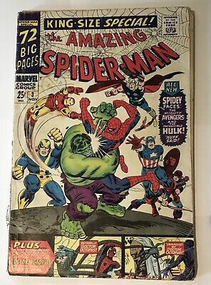 Amazing Spider-Man Annual #3 - The Avengers & Hulk - Silver Age Marvel
