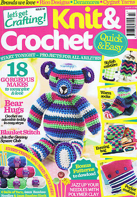 Let's Get Crafting.  Knit and Crochet. Issue 43. Projects for all abilities.
