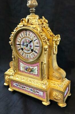 Antique french clock sevres ormolu