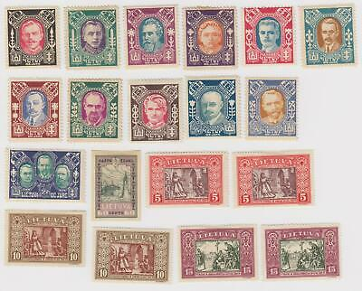 Lithuania #116-119c ,263, 264-271(2 Sets), Used and Mint #277A, 2&&B & Two 277