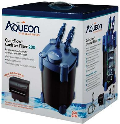 Aqueon QuietFlow Canister Filter 200 GPH, For Up to 55 Gallons, *Offers Welcome*