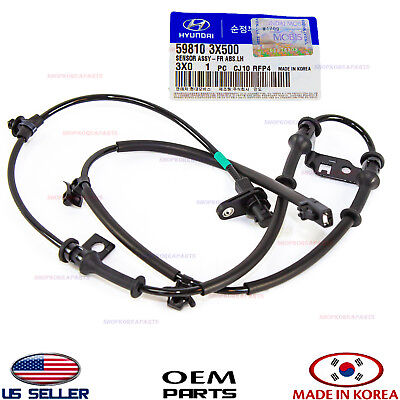 Abs Wheel Speed Sensor Front Left Genuine! Hyundai Elantra Sedan 2011 598103X500