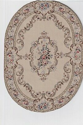 """Oval Woven Vintage Miniature Dollhouse Persian Style Rug/Carpet 7""""x 9 3/4"""""""