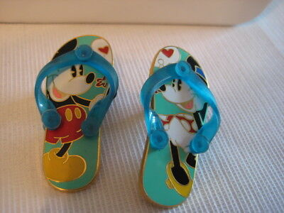 Disney Trading Pin Mickey And Minnie Mouse Flip Flop Sandal Shoe Pins