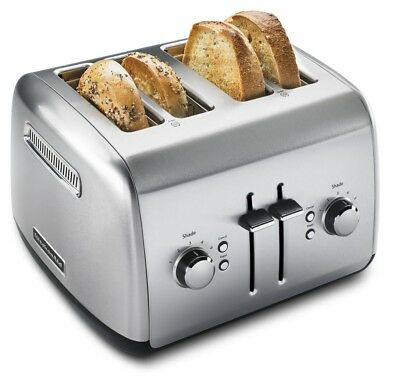 KitchenAid 4-Slice Toaster with Manual High-Lift Lever - Brushed Stainless Steel