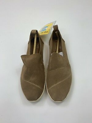 67b26101fd9a TOMS WOMENS TOFFEE Suede Leather Peep Toe Elba Booties 6 T716159 ...