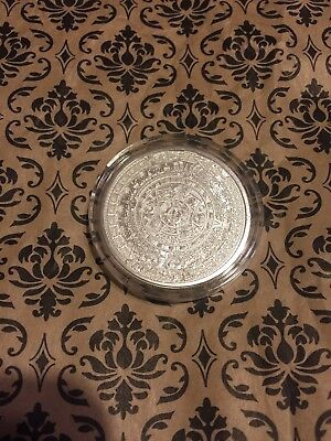 1 Oz Silver Round Aztec Calendar -Cuauhtemoc USA Made BU Round Very Limited Coin