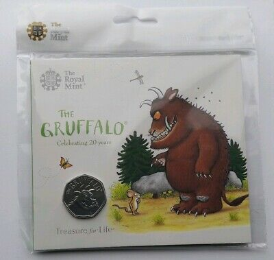 2019 Royal Mint - The Gruffalo Brilliant Uncirculated 50p Fifty Pence Coin Pack