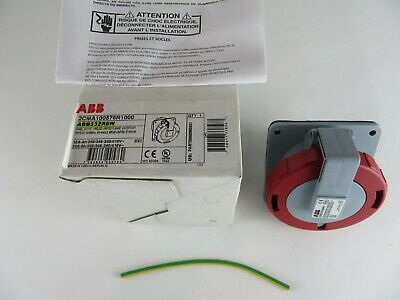 New Abb Abb532R6W Panel Socket Angled Unified Flange 2Cma100576R1000