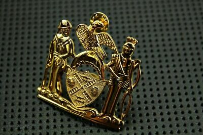 Costume Collection Cap Badge Pin Hat Fake US Police NY Gold