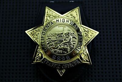 Belt Clip Holder with #8898 Unofficial US Police Badge Heptagon