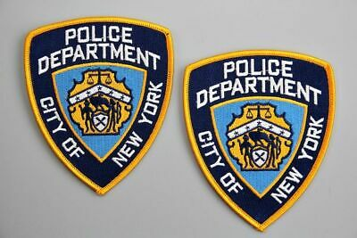 US Police Badge Iron Patch 2 pcs Set Embroidery Symbol