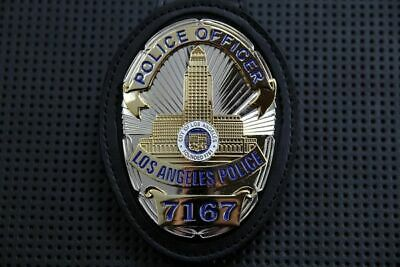 Collectible Fake US Police Oval Badge #7167 with Holder (No chain)