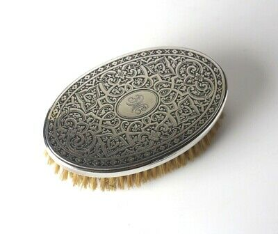 Tiffany & Co. Sterling Silver hairbrush clothes brush oval hand chased celtic