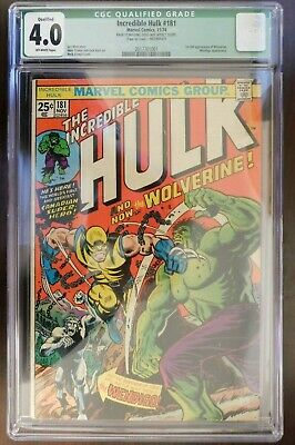 The Incredible Hulk #181 CGC 4.0 1st Full appearance of Wolverine 11/74 Wendigo