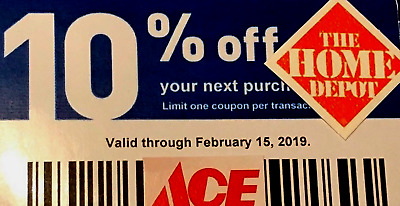 2 10% OFF Voucher at Home Depot, Ace September 15 exp Fast Shipping Not Lowes