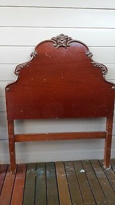 Pair Of Antique Australian Red Cedar Single Bed Heads
