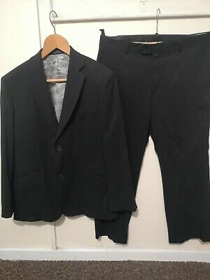 Ted I durance Two Piece Suit Black Jacket 42S Trousers 36S