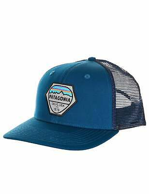 643d367c412 PATAGONIA MENS - Fitz Roy Hex Trucker Hat Cap - Sprouted Green ...