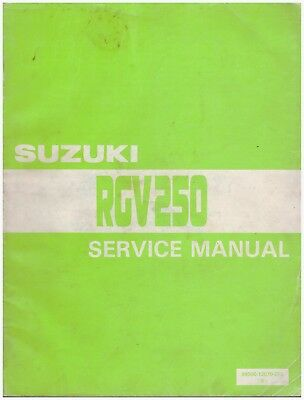 Manuale di Officina in inglese - Service Manual -  Suzuki RGV250 1988