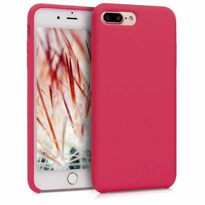kwmobile Cover Apple iPhone 7/8 Plus Case Custodia Silicone Fucsia Ciliegia
