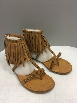 471be7800 New - Women s Not Rated Xenia Fringe Tan Sandals Size 7.5