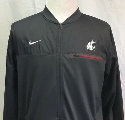 5a175d201 Nike WASHINGTON STATE COUGARS Football Men s Large TEAM ISSUE Jacket RARE