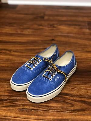 ee58f4d369 Unisex Vans for J.Crew Canvas Authentic Blue Sneakers Mens 8 Womens 9.5 NEW