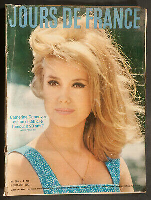 'jours De France' Vintage Magazine Catherine Deneuve Cover 7 July 1962