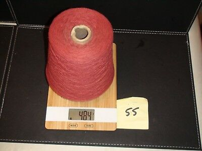 Knitting Machine Yarn On Cone 2 Ply Cotton Blend Burnt Red 484 Grams (55)