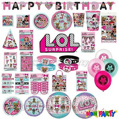 LOL Suprise Birthday Party Supplies Girls Childrens Tableware Decorations