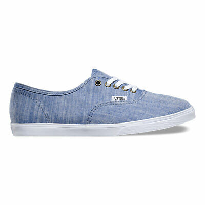 5db7e27312 Vans AUTHENTIC LO PRO Mens Womens Floral Chambray Blue Athletic Shoes