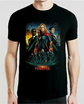 Captain Marvel 2019 Movie T-Shirt Xs-5Xl Fast Free Shipping International