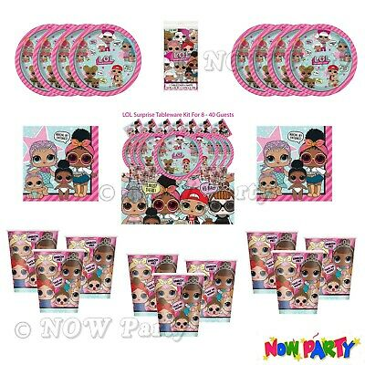 LOL Suprise Birthday Party Supplies Girls Childrens Tableware & Party Kits