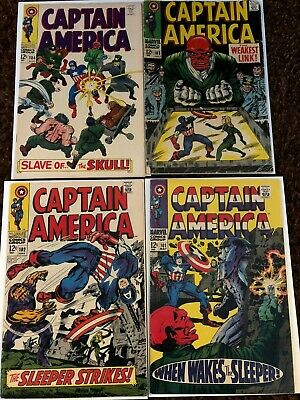 Captain America 101, 102, 103, 104, Lee & Kirby, Free Priority Shipping!