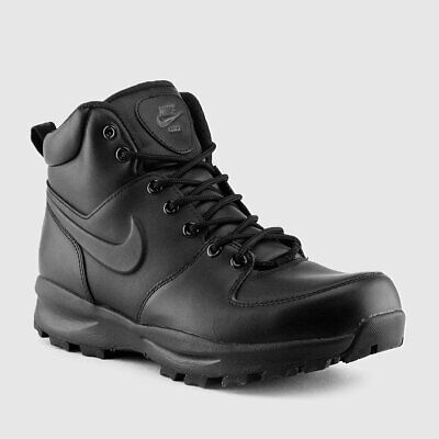 Sale Mens Nike Manoa Leather Black Black 454350 003 Brand New In Box Shoes