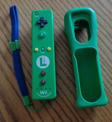 Official Luigi Nintendo Wii / Wii U Motion Remote Controller Motion Plus Green