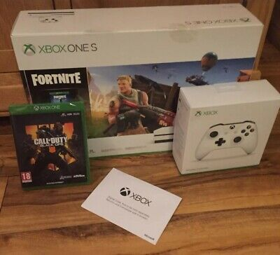 Xbox One S 1TB Console Fortnite With Call Of Duty Black Ops 4 12 Months Live ...