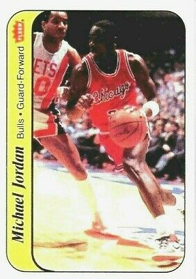 1986 Fleer Michael Jordan Bulls Rookie Reprint #5/11 Nba Basketball Sticker Card