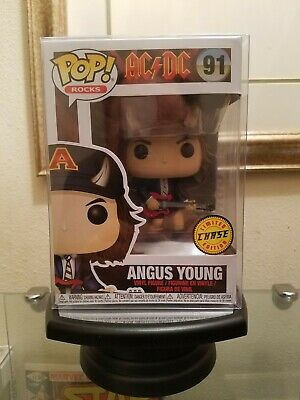 Funko POP! Rocks AC/DC Angus Young Chase + Soft Protector...Mint