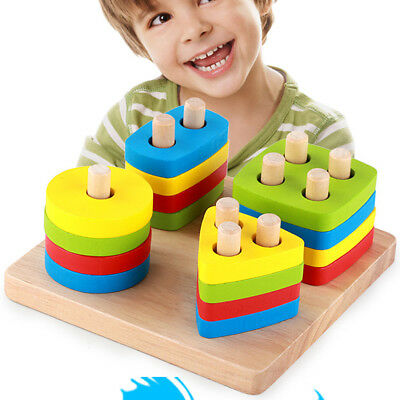 Children Educational Toy With Geometric Shape Matching Puzzle Set Popular HS1
