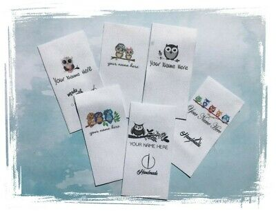 20 x Fabric Sewing Labels Premade Logo - Various Designs