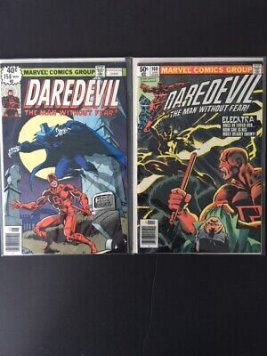 Daredevil 158 - 191 complete Miller run 8.0 - 9.0 with 168 1st Elektra unpressed